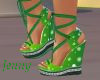 christmas green wedges