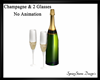 Champagne & 2 Glasses
