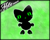 [Hot] Black/Green Kitten