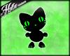 [Hot] Black/Green Kitten