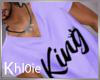 K king purple tshit