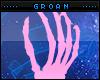 Pink Hand Pedestal