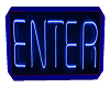 ENTER NEON ROOM SIGN
