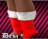 D! white/red socks