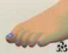 Bre FT Gliter Blue Nails