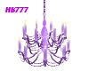HB777 Chandelier Purple