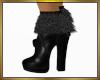 Black Boots w/fur