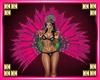 Mardi Gras Pink Feathers
