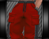 [L] RED CARGO PANTS