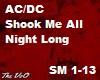 Ac/Dc You Shook Me All N