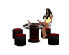 Red & Black Table Set