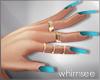 Summer Nails Rings Blue