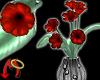[m] Deco Vase Silver/Red