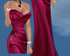 dark pink layered gown