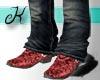 {K} Snake Skin Red