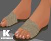 Beige Flat Sandals