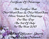 Mr&Mrs.Boss Wedding Cert