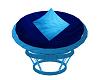 (K) Blue Papasan Chair