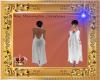 White Rear Gap Gown