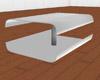 White Lust Corner Table