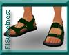 FLS Sandals - Dk Green