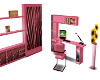 $A$ PINK ZEBRA DESK UNIT