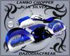 Lambo Chopper Silver Blu