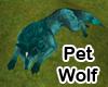 Black Teal Wolf