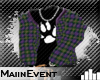 =ME= Plaid Hoody up Prpl