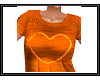 {G} Orange Heart Top