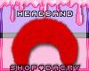 Red Fur Headband