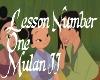 Lesson Number 1-MulanII