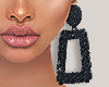 I│Black Mat Earrings