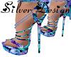 SW Blue Rose Heels