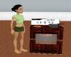 Wood animated stove