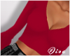 Belle Sleeve Top Red