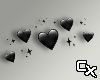 Head Sign - Black Hearts