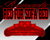CPC Red Fur Sofabed