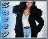-S-Winter Fur Coat Black