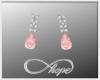 Tear Earrings Coral Pink