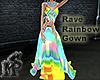 Rave Rainbow Gown Femme