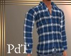 PdT Navy  Plaid  Shirt M