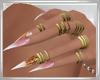 Pink Diva Nails + Rings