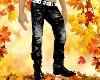 Dad/Boy Blk Jeans+Boots