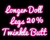Longer Doll Legs +20