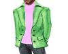 pink green coat