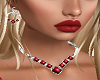 Red Gem Heart Necklace