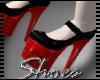 .Red Pvc Heels.