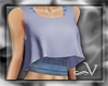 ~V Blue Workout Tank Top