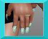 FA aqua mix nails